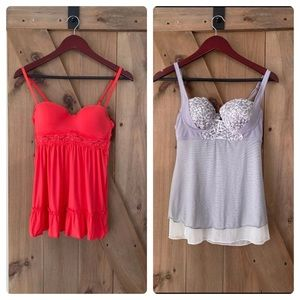 2 sexy lingerie tops SMALL babydoll y2k bra